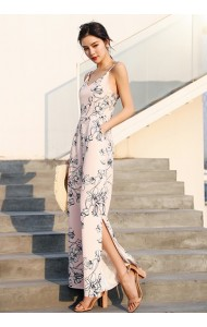 KJP04105209X Floral split jumpsuit REAL PHOTO