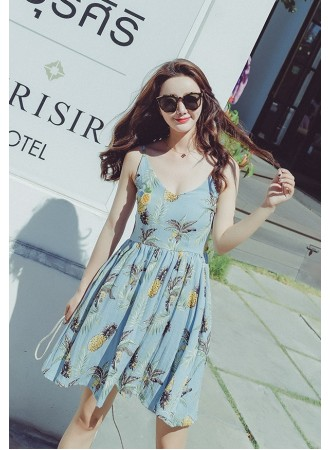 KDS04126303M Floral strappy dress REAL PHOTO