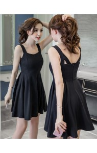 KDS0413995S Black skater dress REAL PHOTO