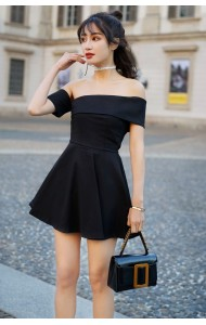 KDS04153499Y Off shoulder tube dress REAL PHOTO