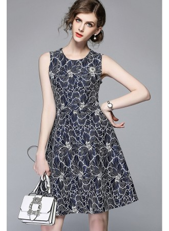 BDS04159896J Jacquard embroidery dress REAL PHOTO
