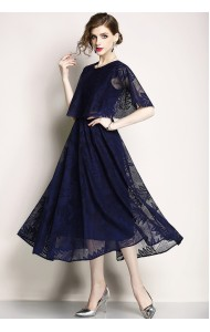 BDS04250516X Lace cape dress REAL PHOTO