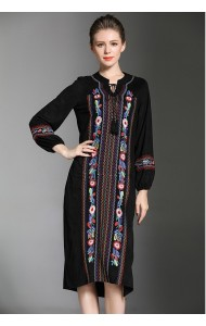 BDS04266117D Ethnic embroidery dress REAL PHOTO