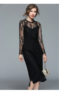BDS04269057D 2 piece lace dress REAL PHOTO