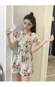 KJP04303855Y Off shoulder floral jumpsuit REAL PHOTO