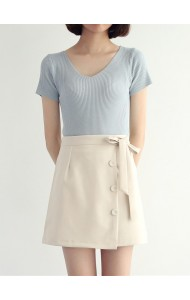 KSK050990058H Ribbon mini skirt REAL PHOTO
