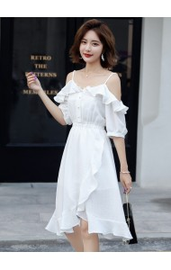 KDS0516650H Off shoulder ruffle dress REAL PHOTO