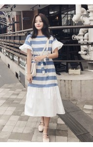 KDS0516160H Stripes dress with bow REAL PHOTO