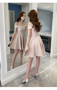 KDS05185308S Off shoulder skater dress REAL PHOTO
