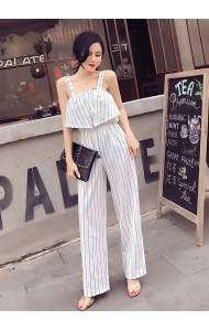KJP05255101H Strap stripes jumpsuit REAL PHOTO