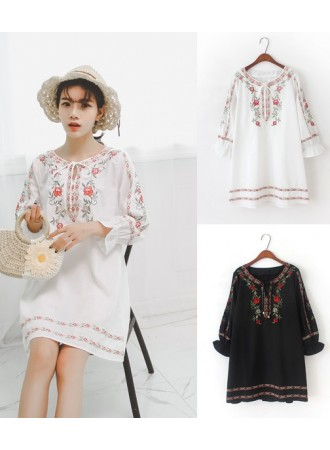 KDS05252129Y Embroidery ethnic dress REAL PHOTO