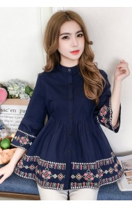 KTP06012551Y Embroidery wawa blouse REAL PHOTO