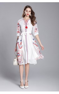 BDS0620022S Printed ethnic dress REAL PHOTO