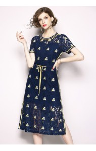 BDS06203816S Full lace embroidery drawstring dress REAL PHOTO