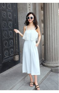 KJP07022733S Strappy lace jumpsuit REAL PHOTO