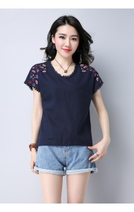 KTP07038725Y Embroidery blouse REAL PHOTO