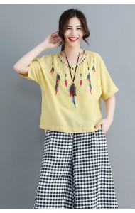 KTP07039625Y Embroidery blouse REAL PHOTO