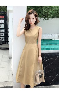 KDS0704129H Weave back midi dress REAL PHOTO
