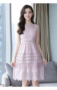 KDS07116336G Petite full lace slim dress REAL PHOTO