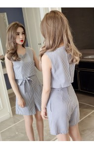 KDS07149069H Stripes jumpsuit with bow REAL PHOTO