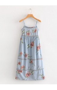 KDS0714001Y Floral strappy dress REAL PHOTO