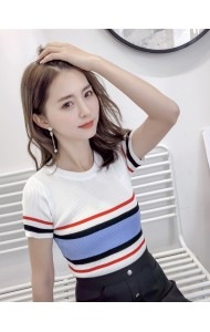 KTP0718753D Knit stripes top REAL PHOTO
