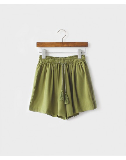 KPT07261601W Korea drawstring skort REAL PHOTO