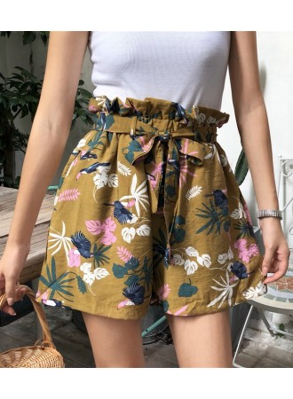 KPT07262828X High waisted floral shorts REAL PHOTO