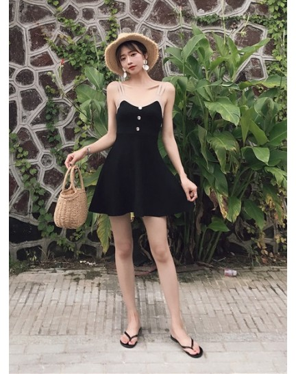 KDS07289689H Knit skater dress REAL PHOTO