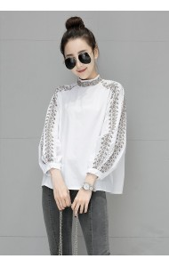 KTP08020985D Embroidery puff sleeves blouse REAL PHOTO