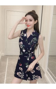 KJP08041985D Floral overlapping jumpsuit REAL PHOTO