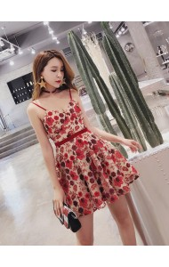 KDS08145203H Embroidery strappy princess dress REAL PHOTO