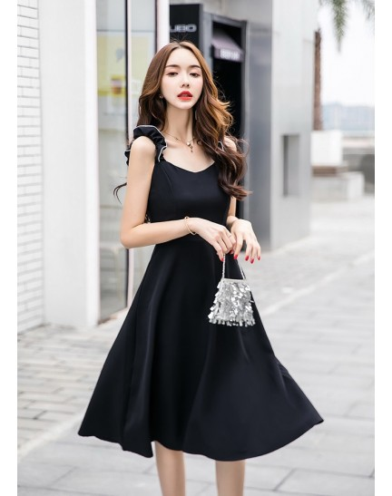 KDS08216099W Strappy skater midi dress REAL PHOTO