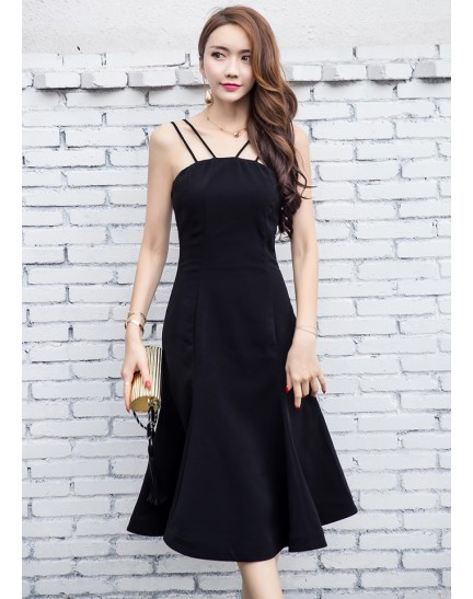 KDS08210859W Strappy mermaid tube dress REAL PHOTO