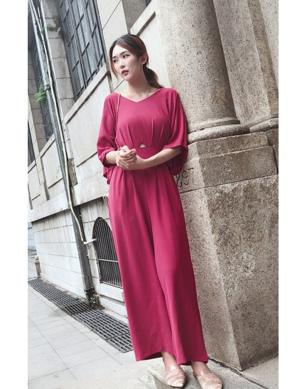 KDS098406Y Midriff jumpsuit REAL PHOTO