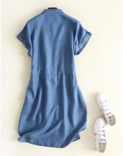 BDS0913007S Bat wing embroidery dress REAL PHOTO