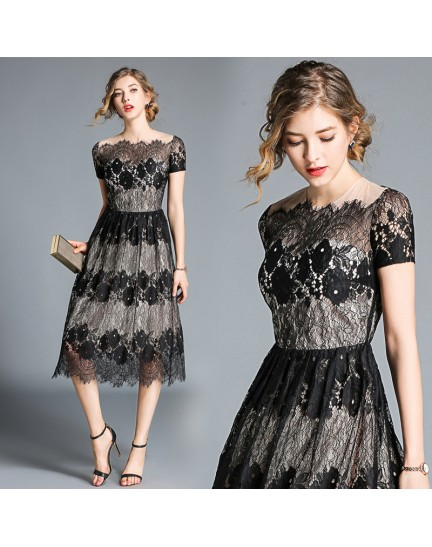 BDS09145628Y Lace dress REAL PHOTO