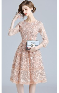 BDS09155575X Embroidery floral dress REAL PHOTO