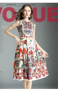 BDS09186237J Printed skater dress REAL PHOTO