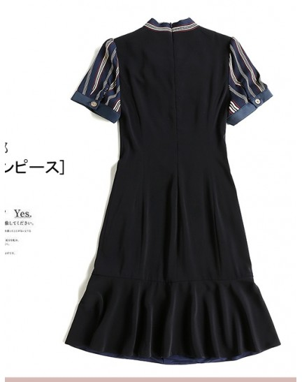 BDS09215859H Trumpet bow dress REAL PHOTO
