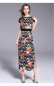 BDS09211206L Printed floral dress REAL PHOTO