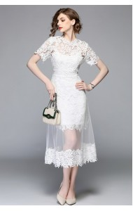 BDS09225823M 2 piece crochet mermaid lace dress REAL PHOTO
