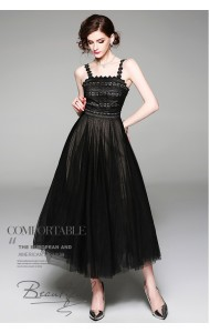 BDS09231859H Strappy netting tutu dress REAL PHOTO