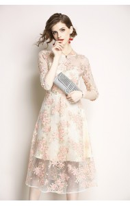 BDS09230716X Embroidery floral dress REAL PHOTO