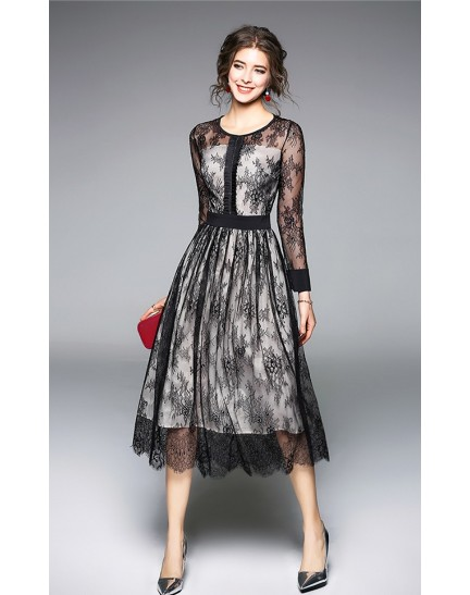 BDS09233316X Full lace dress REAL PHOTO