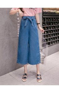 KSK10025190Q Plus size soft denim pants REAL PHOTO