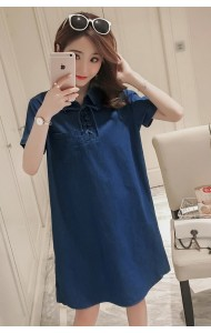 KDS10068656D Plus size soft denim dress REAL PHOTO