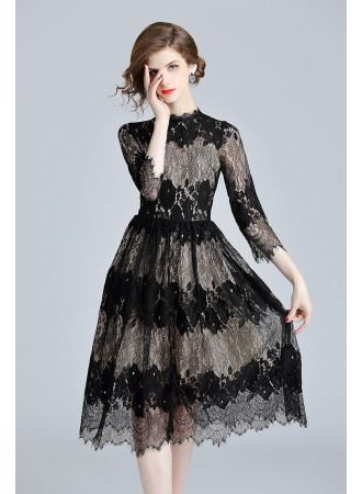 BDS10099575X Full lace dress REAL PHOTO