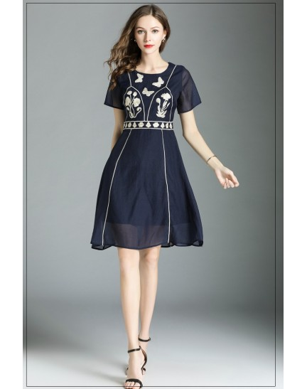 BDS10090337S Embroidery A line dress REAL PHOTO