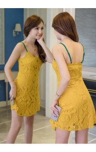 KDS10265729C Yellow lace dress PHOTO